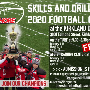 3rd annual Lakeshore Cougars' Skills & Drills 2020 Football Camp